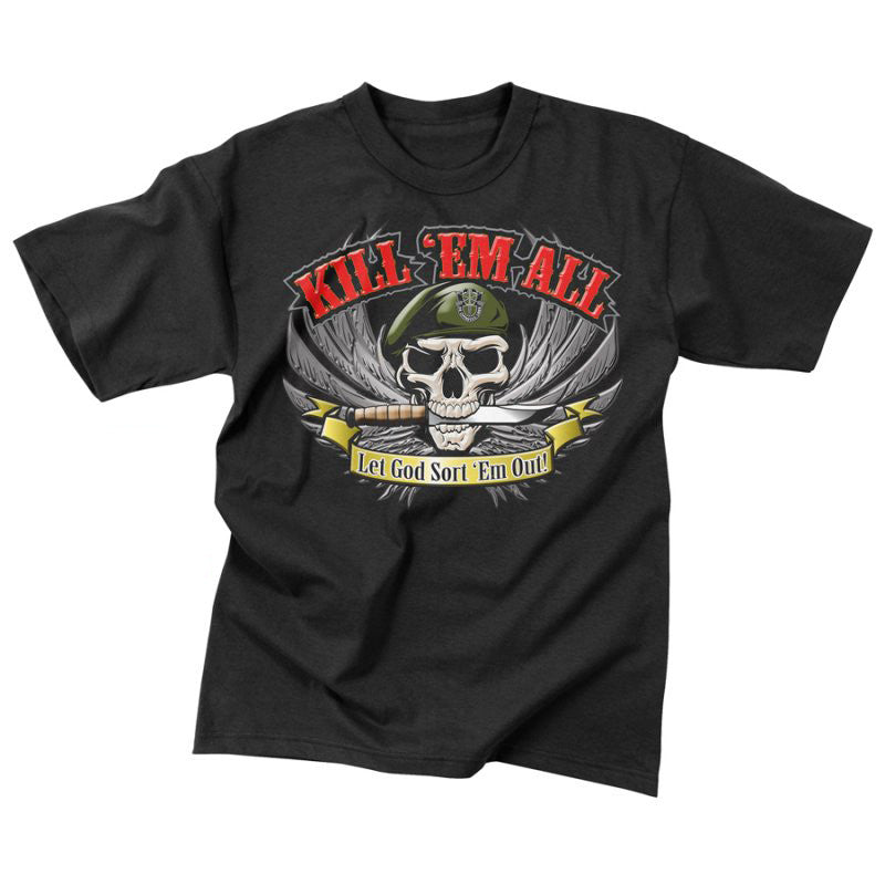 ROTHCO KILL 'EM ALL T-SHIRT - Hock Gift Shop | Army Online Store in Singapore
