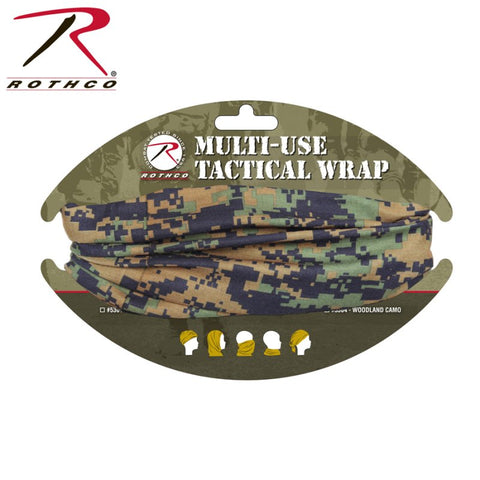 ROTHCO MULTI USE TACTICAL WRAP - WOODLAND DIGITAL - Hock Gift Shop | Army Online Store in Singapore