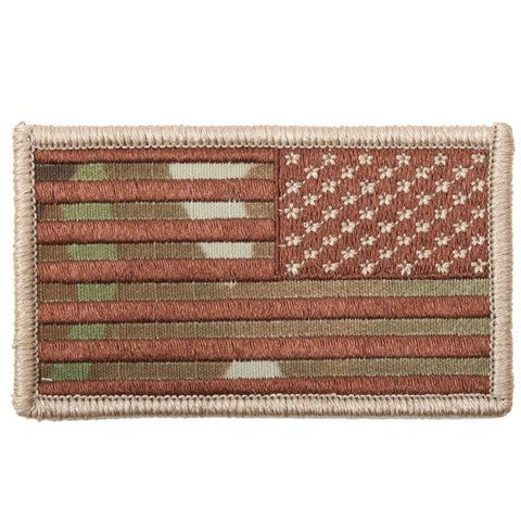 ROTHCO REVERSE AMERICAN FLAG PATCH - MULTICAM - Hock Gift Shop | Army Online Store in Singapore