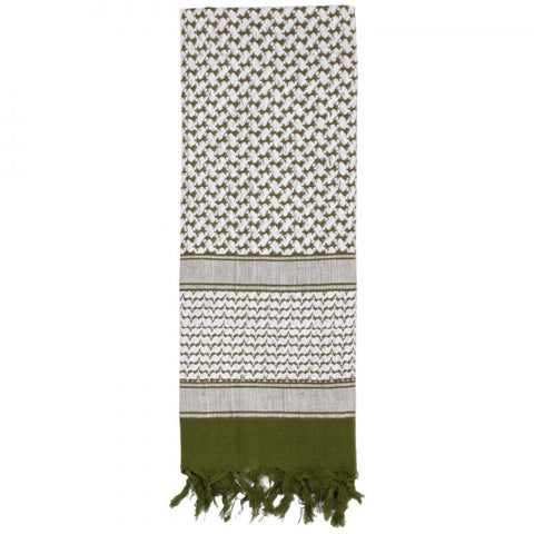 ROTHCO SHEMAGH TACTICAL DESERT SCARF - OD/WHITE - Hock Gift Shop | Army Online Store in Singapore