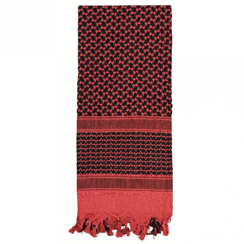 ROTHCO SHEMAGH TACTICAL DESERT SCARF - RED/BLACK - Hock Gift Shop | Army Online Store in Singapore