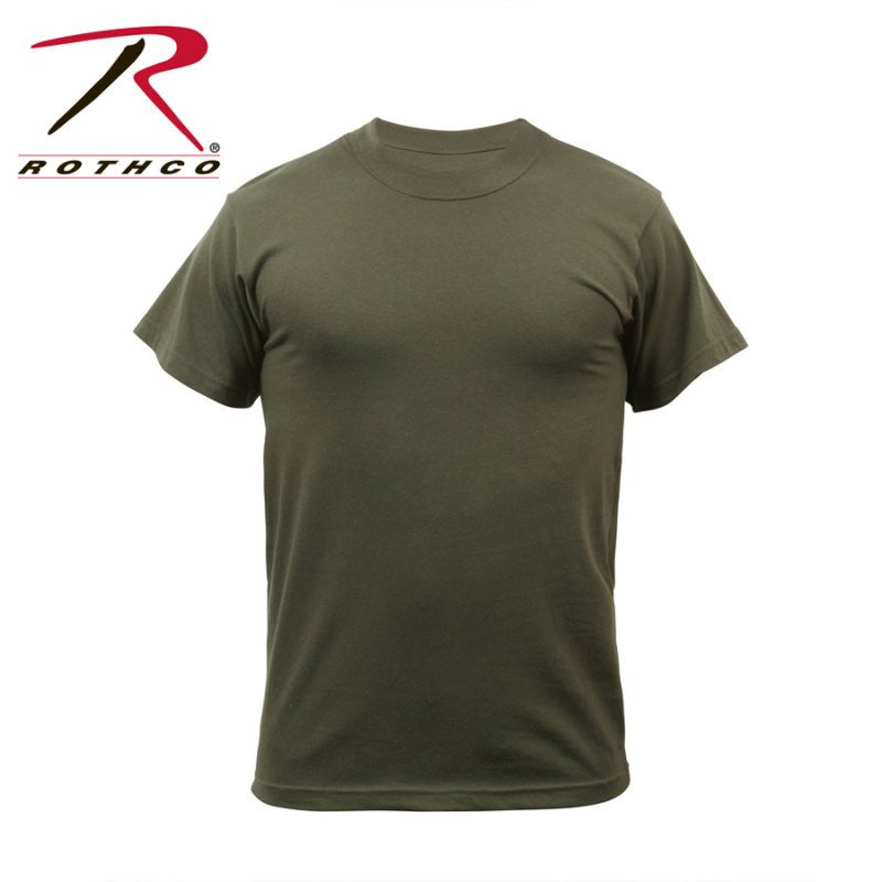 ROTHCO 100% COTTON T-SHIRT - OLIVE DRAB - Hock Gift Shop | Army Online Store in Singapore