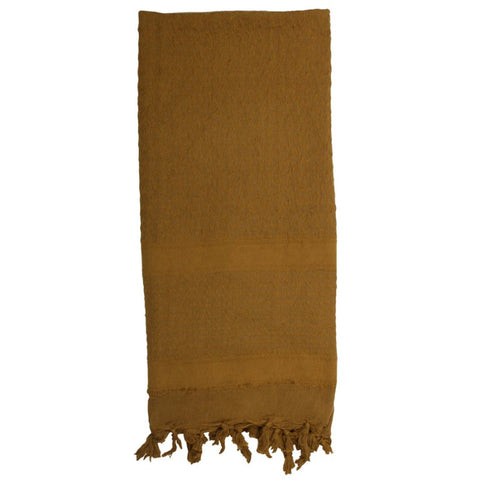ROTHCO SOLID COLOR SHEMAGH TACTICAL DESERT SCARF - COYOTE - Hock Gift Shop | Army Online Store in Singapore