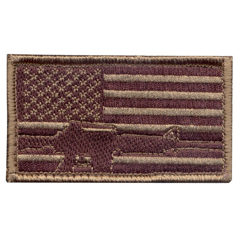 ROTHCO SUBDUED US FLAG WITH RIFLE IMAGE - Hock Gift Shop | Army Online Store in Singapore
