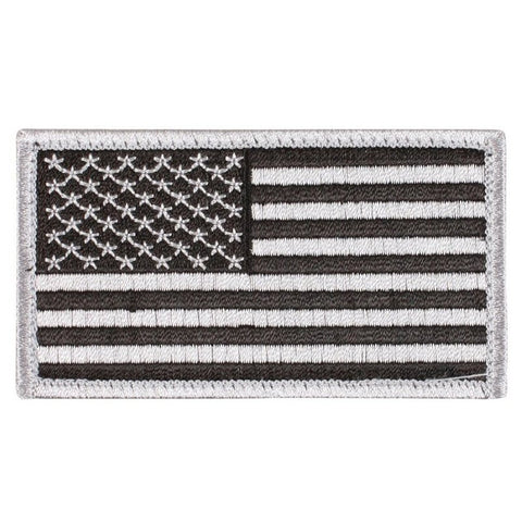 ROTHCO USA FLAG PATCH - BLACK & SILVER - Hock Gift Shop | Army Online Store in Singapore