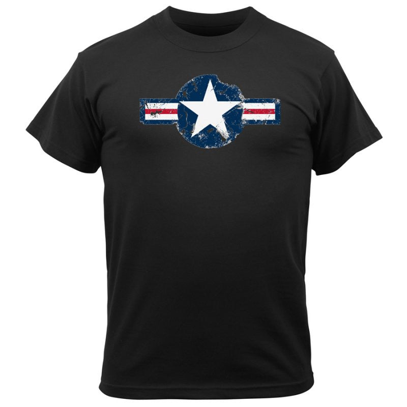 ROTHCO VINTAGE ARMY AIR CORPS T-SHIRT - BLACK - Hock Gift Shop | Army Online Store in Singapore