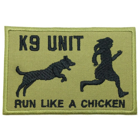 RUN LIKE A CHICKEN PATCH - OLIVE GREEN - Hock Gift Shop | Army Online Store in Singapore