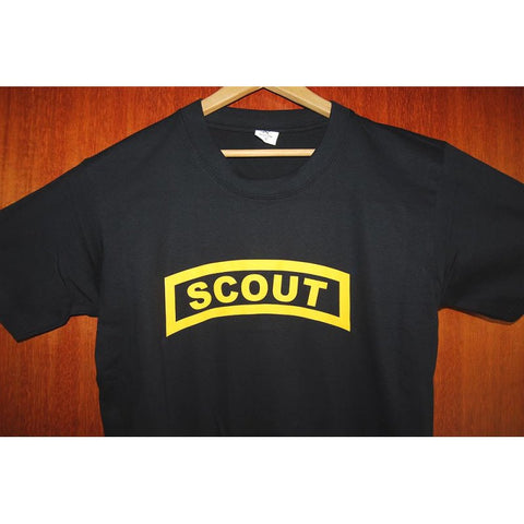 HGS T-SHIRT - SCOUT TAB (YELLOW PRINT) - Hock Gift Shop | Army Online Store in Singapore