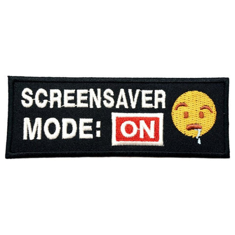 SCREENSAVER MODE ON PATCH - BLACK - Hock Gift Shop | Army Online Store in Singapore
