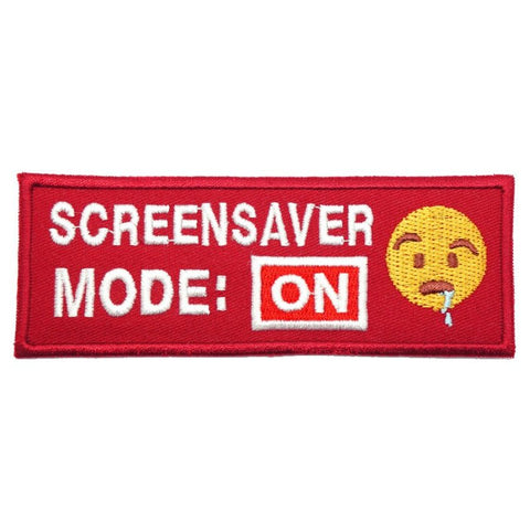 SCREENSAVER MODE ON PATCH - RED - Hock Gift Shop | Army Online Store in Singapore