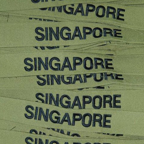 SINGAPORE COUNTRY TAG - OLIVE GREEN - Hock Gift Shop | Army Online Store in Singapore
