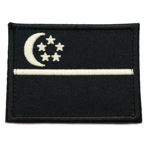 SINGAPORE FLAG - BLACK, GLOW (LARGE) - Hock Gift Shop | Army Online Store in Singapore