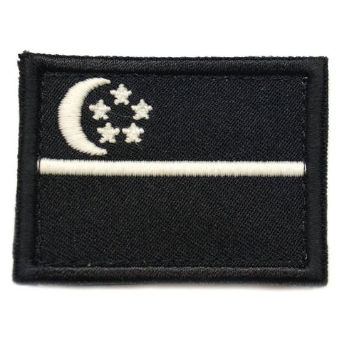 SINGAPORE FLAG - BLACK, GLOW (MEDIUM) - Hock Gift Shop | Army Online Store in Singapore