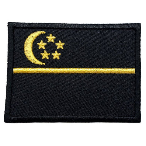 SINGAPORE FLAG - BLACK, GOLD (LARGE) - Hock Gift Shop | Army Online Store in Singapore