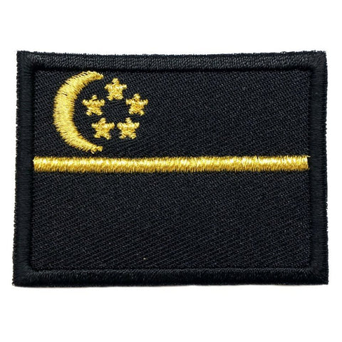 SINGAPORE FLAG - BLACK, GOLD (MEDIUM) - Hock Gift Shop | Army Online Store in Singapore