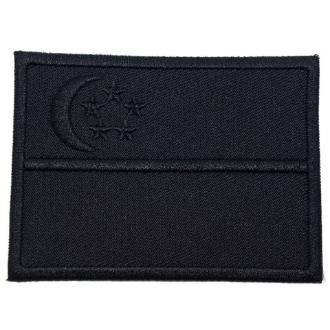 SINGAPORE FLAG - BLACK ON BLACK (LARGE) - Hock Gift Shop | Army Online Store in Singapore