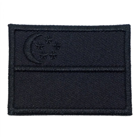 SINGAPORE FLAG - BLACK ON BLACK (MEDIUM) - Hock Gift Shop | Army Online Store in Singapore