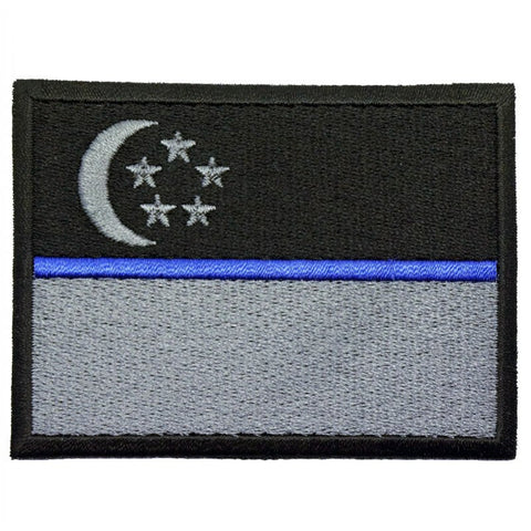 SINGAPORE FLAG - BLUE LINE (LARGE) - Hock Gift Shop | Army Online Store in Singapore