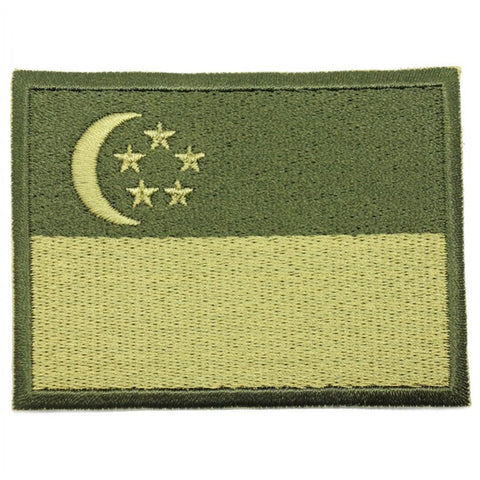 SINGAPORE FLAG - GREEN BORDER (LARGE) - Hock Gift Shop | Army Online Store in Singapore