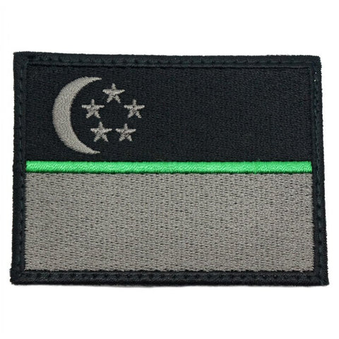 SINGAPORE FLAG - GREEN LINE (LARGE) - Hock Gift Shop | Army Online Store in Singapore