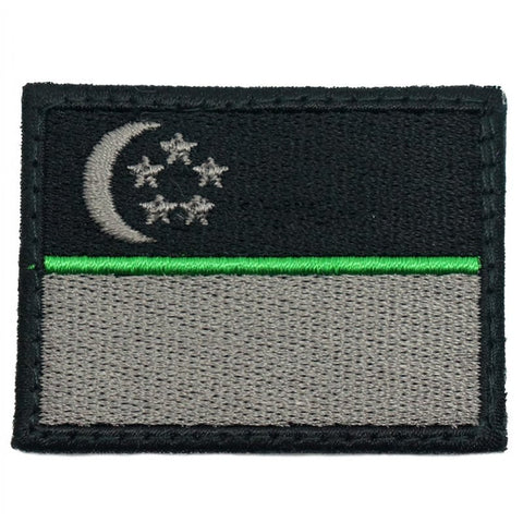 SINGAPORE FLAG - GREEN LINE (MEDIUM) - Hock Gift Shop | Army Online Store in Singapore