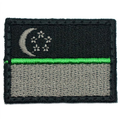 SINGAPORE FLAG - GREEN LINE (MINI) - Hock Gift Shop | Army Online Store in Singapore