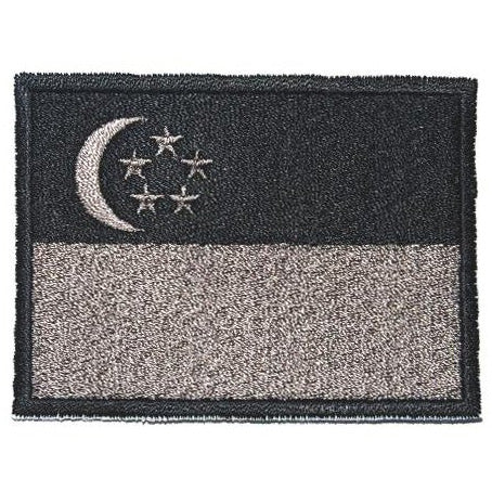SINGAPORE FLAG - BLACK BORDER (LARGE) - Hock Gift Shop | Army Online Store in Singapore