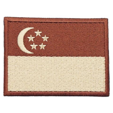 SINGAPORE FLAG - BROWN BORDER (LARGE) - Hock Gift Shop | Army Online Store in Singapore