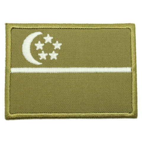 SINGAPORE FLAG - OLIVE GREEN, GLOW (LARGE) - Hock Gift Shop | Army Online Store in Singapore