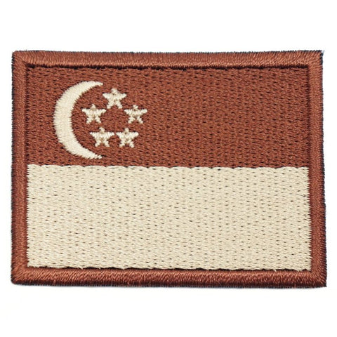 SINGAPORE FLAG - BROWN BORDER (MEDIUM) - Hock Gift Shop | Army Online Store in Singapore