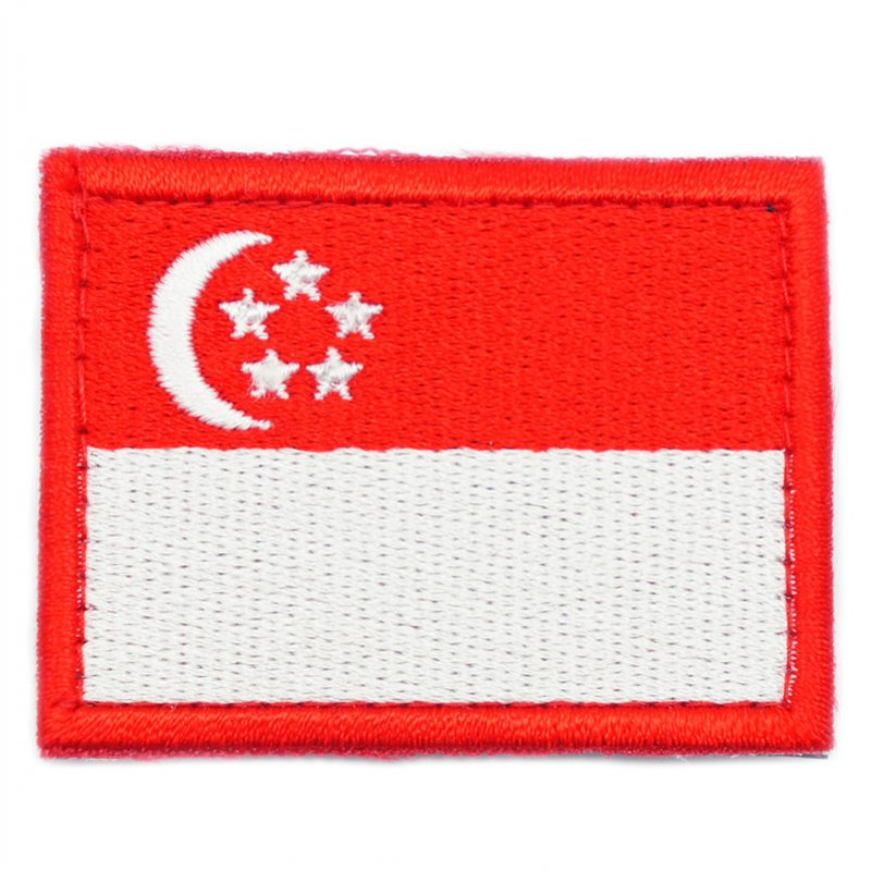 SINGAPORE FLAG - RED BORDER (MEDIUM) - Hock Gift Shop | Army Online Store in Singapore
