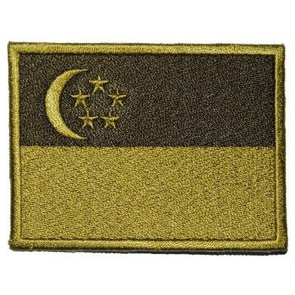 SINGAPORE FLAG - OLIVE GREEN (LARGE) - Hock Gift Shop | Army Online Store in Singapore