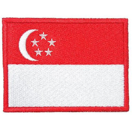 SINGAPORE FLAG - RED BORDER (LARGE) - Hock Gift Shop | Army Online Store in Singapore
