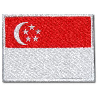SINGAPORE FLAG - FULL COLOR (LARGE) - Hock Gift Shop | Army Online Store in Singapore