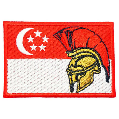 SINGAPORE SPARTAN FLAG - FULL COLOR - Hock Gift Shop | Army Online Store in Singapore