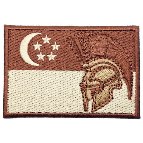 SINGAPORE SPARTAN FLAG - DESERT - Hock Gift Shop | Army Online Store in Singapore