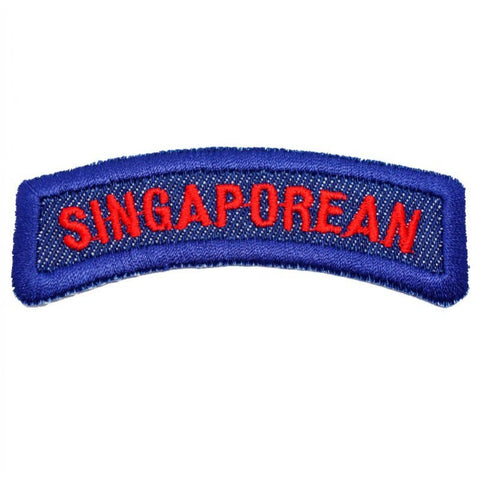 SINGAPOREAN TAB - DENIM, RED - Hock Gift Shop | Army Online Store in Singapore