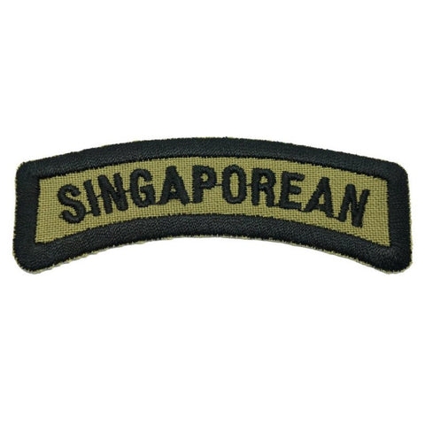 SINGAPOREAN TAB - OLIVE GREEN WITH BLACK WORDS - Hock Gift Shop | Army Online Store in Singapore