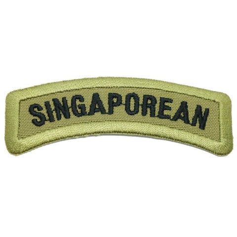 SINGAPOREAN TAB - OLIVE GREEN BORDER - Hock Gift Shop | Army Online Store in Singapore