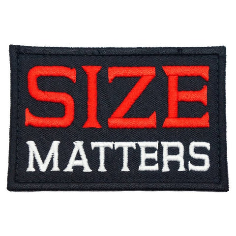 SIZE MATTERS PATCH - BLACK - Hock Gift Shop | Army Online Store in Singapore