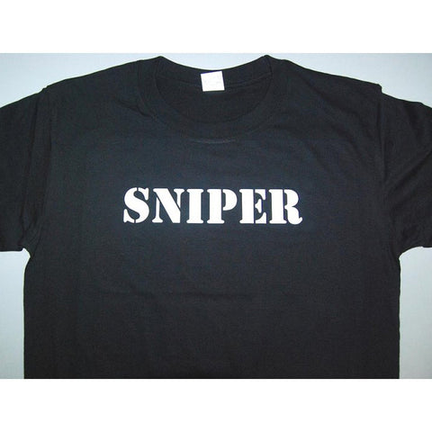 HGS T-SHIRT - SNIPER (WHITE PRINT) - Hock Gift Shop | Army Online Store in Singapore