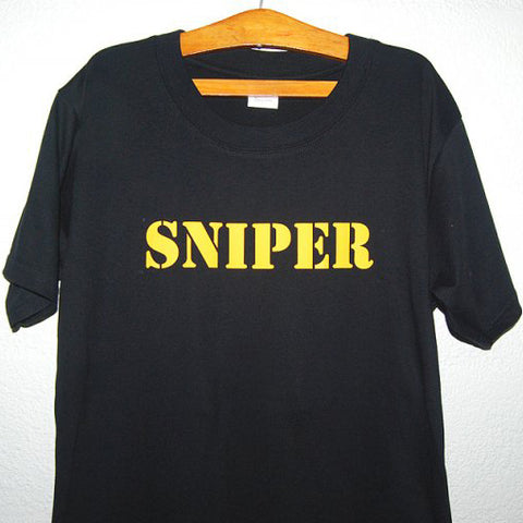 HGS T-SHIRT - SNIPER (YELLOW PRINT) - Hock Gift Shop | Army Online Store in Singapore