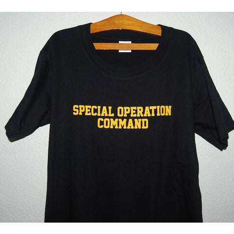 HGS T-SHIRT - SPECIAL OPERATION COMMAND (YELLOW PRINT) - Hock Gift Shop | Army Online Store in Singapore