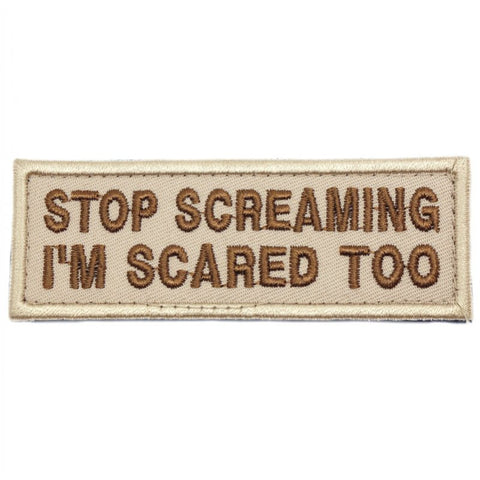 STOP SCREAMING PATCH - KHAKI