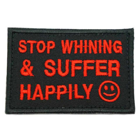 STOP WHINING PATCH - BLACK RED