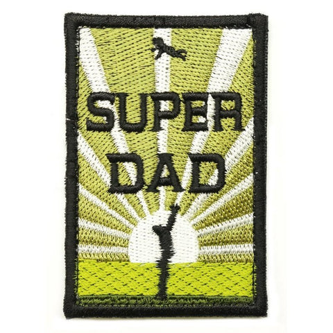 SUPER DAD PATCH - OLIVE GREEN