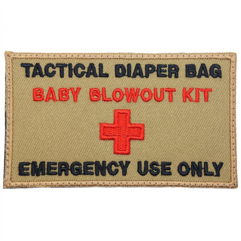 TACTICAL DIAPER BAG PATCH - COYOTE - Hock Gift Shop | Army Online Store in Singapore