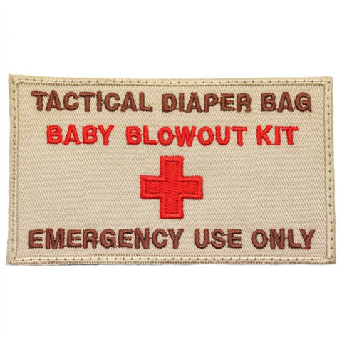 TACTICAL DIAPER BAG PATCH - KHAKI - Hock Gift Shop | Army Online Store in Singapore