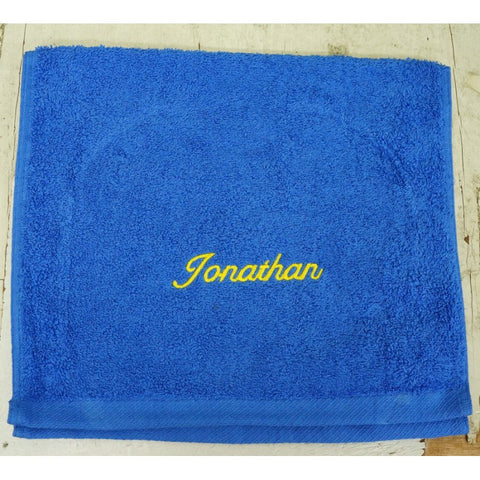 TE GUEST TOWELS 100% COTTON 100GMS (ROYAL BLUE) - Hock Gift Shop | Army Online Store in Singapore