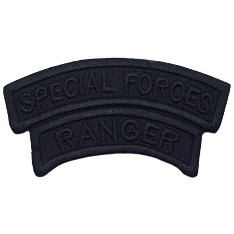 THAILAND SPECIAL FORCES X RANGER TAB - BLACK ON BLACK - Hock Gift Shop | Army Online Store in Singapore